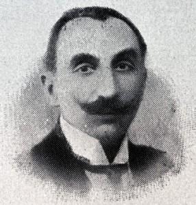 """Ο Άγγελος Σημηριώτης το 1911, φωτοτσιγκογραφία δημοσιευθείσα στο """"Εθνικόν Ημερολόγιον"""" του Κωνσταντίνου Σκόκου (Πηγή: Πανδέκτης/ΕΚΤ)"""